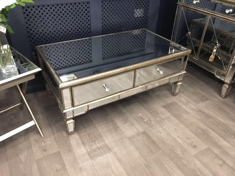 The Belfont Collection Mirrored Coffee Table