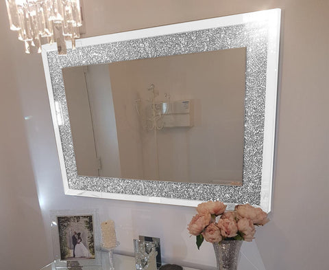 White Crush Wall Mirror
