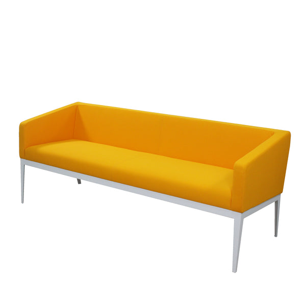 CUBE STEEL FRAME LOW PROFILE MODERN OFFICE THREE-SEATER SOFA