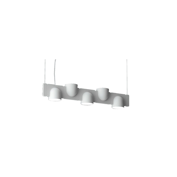 Five Up and Down Bulbs Metal Acrylic Ceiling Lamp