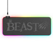 BEAST GAMER RGB GAMING EXTENDED KEYBOARD MOUSE PAD - 50% OFF WITH CODE MOUSE50