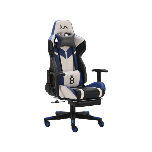 POSEIDON RACING-STYLE GAMING ERGONOMIC CHAIR WITH FOOTREST