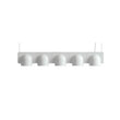 Five Bulbs Metal Acrylic Ceiling Lamp