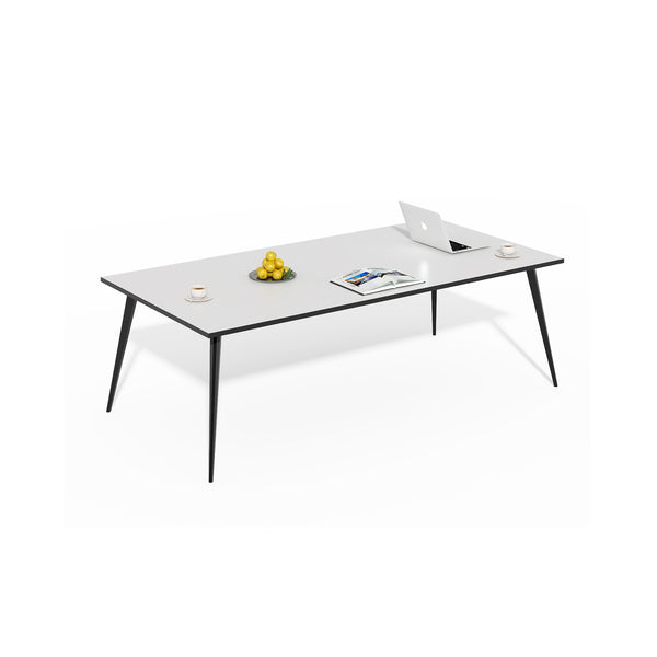 "BLACK & WHITE 79"" X 40"" CONFERENCE TABLE"