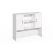 VERSA EXECUTIVE L-SHAPE BOW DESK WITH HUTCH COMBO