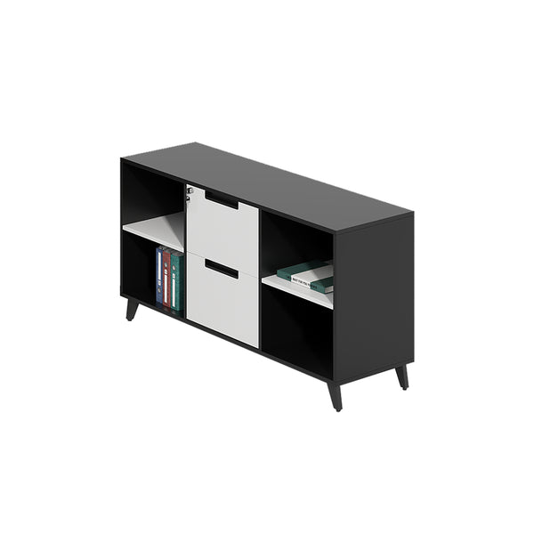 BLACK & WHITE SIDE CABINET