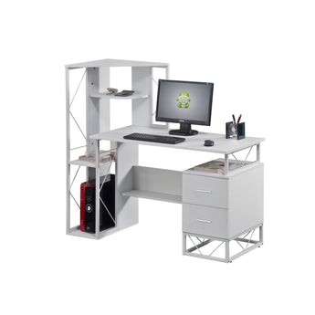 HOME OFFICE WORKSTATION W/ STORAGE TOWER AND DRAWERS