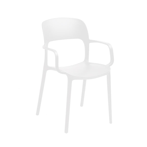 FORTE-A COMMERCIAL GRADE FIBERGLASS-COMPOSITE STACKING CHAIR WITH ARMS