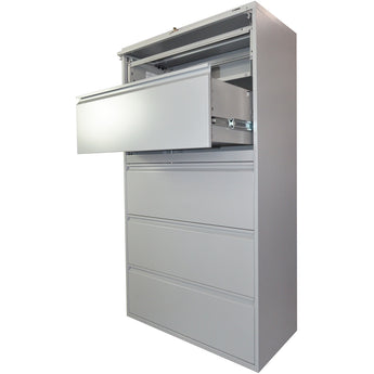 GLO-1936P-5D-GRY - 5-DRAWER LATERAL-GLOBAL-OFXoffice