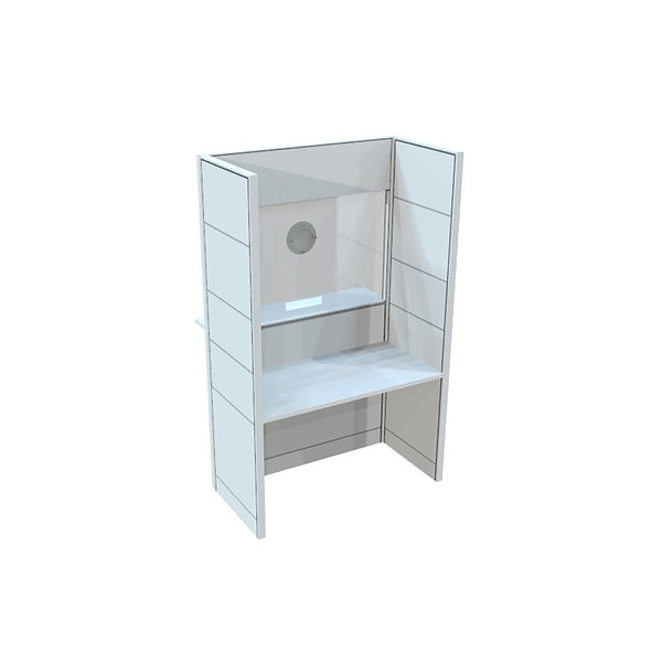 "FRONTLINE20 48""W X 24""D X 81""H COUNTER-HEIGHT 42"" RECEPTION BOOTH"