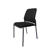 JUPITER MESH-BACK STACKING GUEST CHAIR W/ SEAT CUSHION