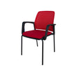 JUPITER MESH-BACK STACKING BLACK FRAME CHAIR