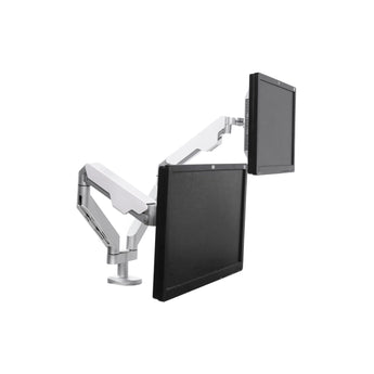 COMPUTER SPRING-ASSISTED DUAL MONITOR DESK MOUNT