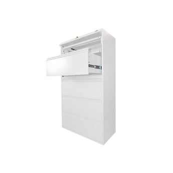 GLOBAL 5-DRAWER FIXED FRONT METAL LATERAL FILE