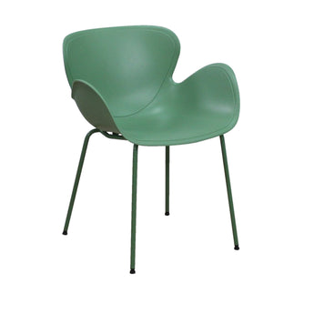 MODERN GUEST VISITOR CHAIR WITH MATCHING COLOR SHELL & FRAME