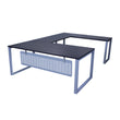 "MSET- U-SHAPE WORKSTATION WITH FLAT STEEL MODESTY- 72"" X 108"""