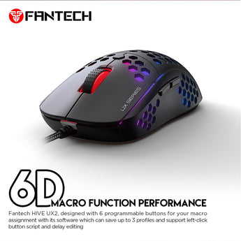 FANTECH HIVE UX2 WIRED PRO-GAMING MOUSE