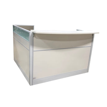 SURFACE 5' X 5' RECEPTION COUNTER WHITE WITH RETURN