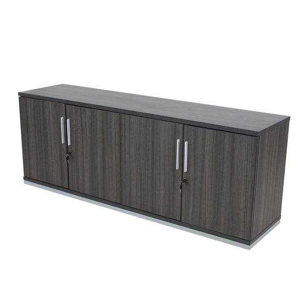 "HINGED-DOOR CREDENZA GRAFITE 71"" X 18"" WITH LOCKS"