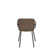 VINTAGE-DESIGN GUEST CHAIR WITH HIGH-TRAFFIC VINYL UPHOLSTERY AND STEEL FRAME