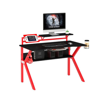 DELUXE GAMING DESK WITH GAME CONTROLLER STAND
