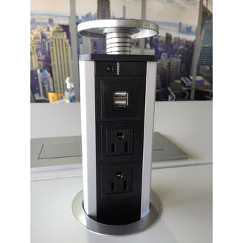 MTX-KX-182 - POWER HUB STATION FOR TABLE DESK TOP USB AND A/C RECHARGING PORT-ELEMENT-OFXoffice