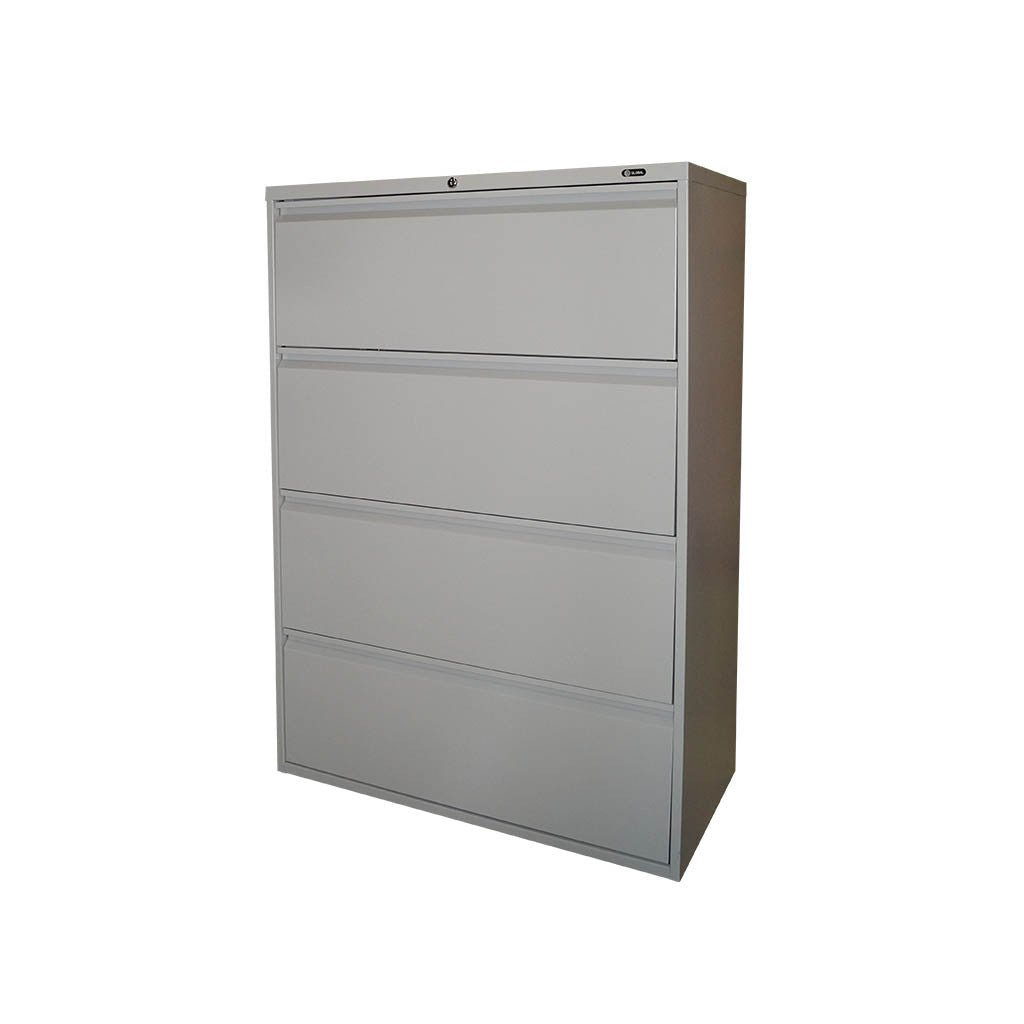 GLOBAL 4 DRAWER FIXED FRONT METAL LATERAL FILE