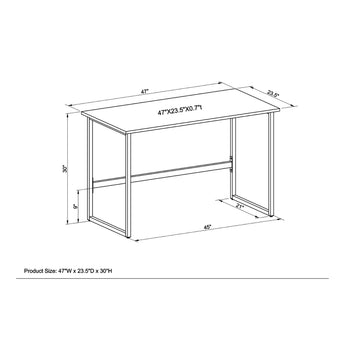 HOME OFFICE & GAMING  STEEL-FRAME TABLE