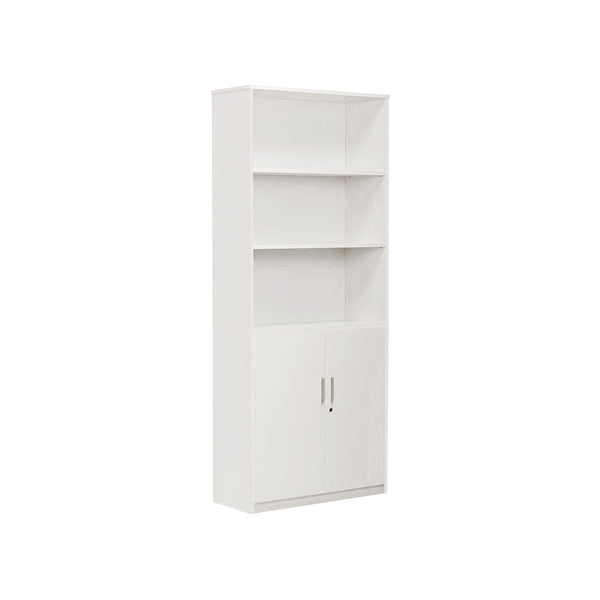 MTX-1096-WHITE - BOOKCASE W/DOORS 71""