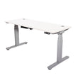 MATRIX ELECTRIC HEIGHT-ADJUSTABLE TABLES WITH LAMINATE COLOR OPTIONS & SILVER FRAME