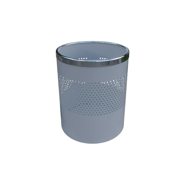 ELEMENT MODERN WASTE BIN WITH CHROMED RIM TO HOLD-BAG-IN-PLACE