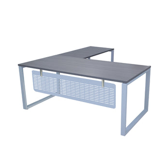 MSET- MATRIX EXECUTIVE L-SHAPE WORKSTATION WITH FLAT METAL MODESTY