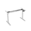 LOCKTEK DUAL-MOTOR HEIGHT-ADJUSTABLE TABLE WHITE FRAME