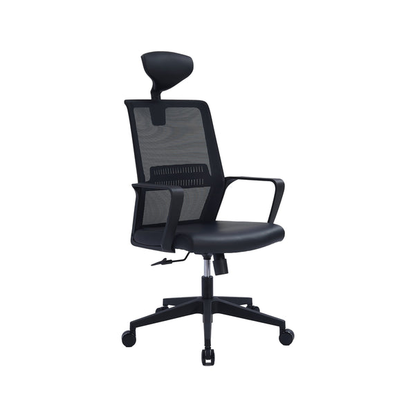NEWGEN HIGH-BACK EXECUTIVE CHAIR W/ PU SEAT UPHOLSTERY