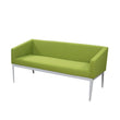 CUBE STEEL FRAME LOW PROFILE MODERN OFFICE TWO-SEATER SOFA