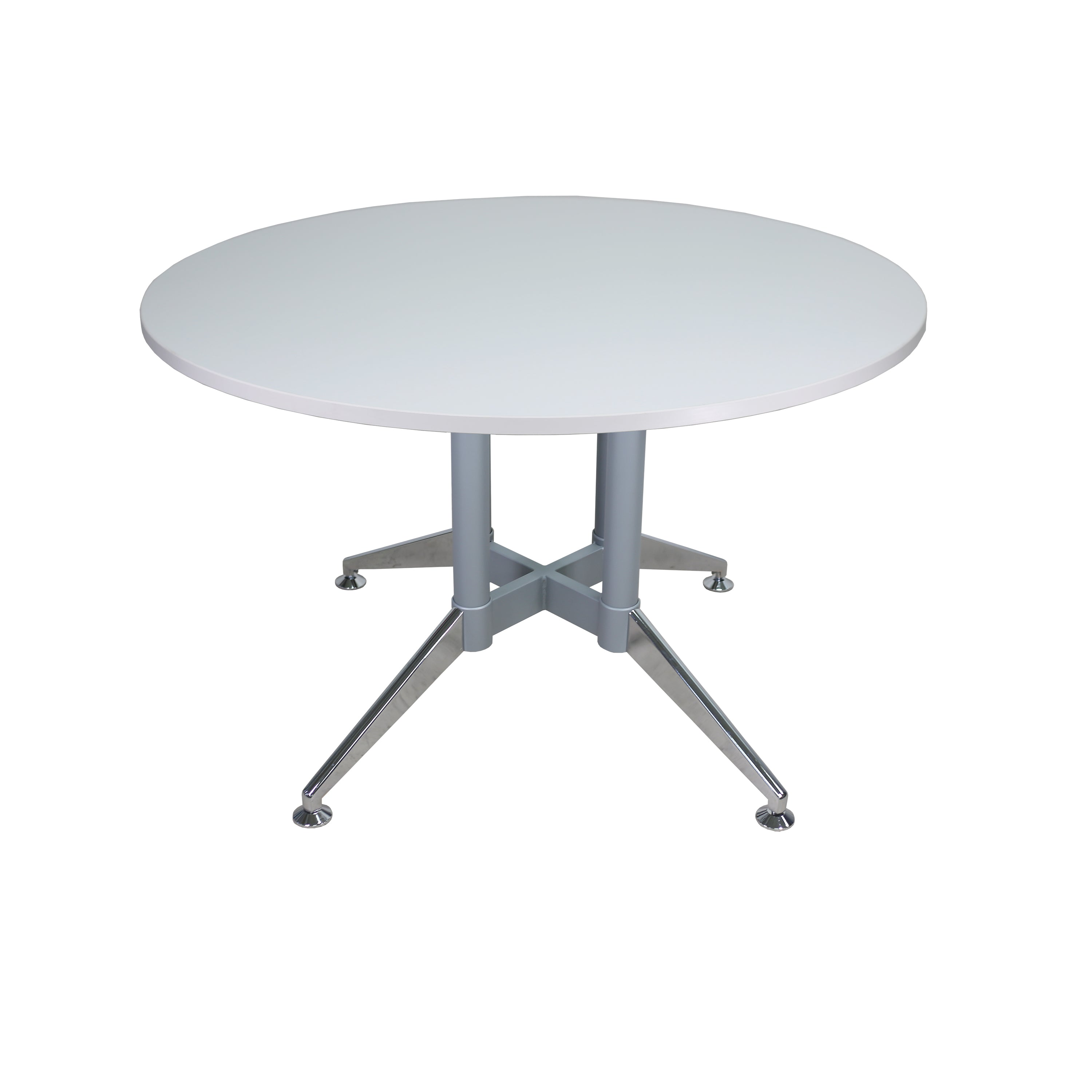 QUANTUM STEEL BASE ROUND CONFERENCE TABLE OFX Office - Round pedestal conference table