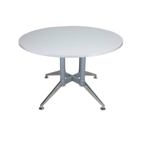 "QUANTUM STEEL BASE 48"" & 60"" ROUND CONFERENCE TABLE"