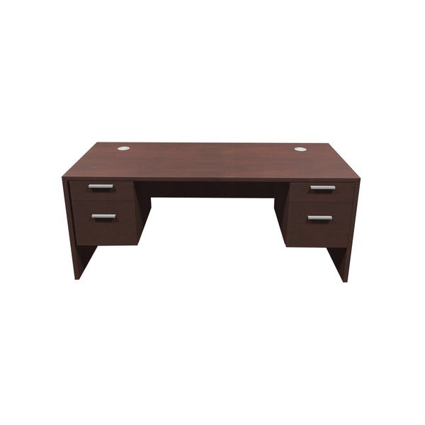 VERSA EXECUTIVE 30X60 DESK WITH TWO BOX/FILE PEDESTALS