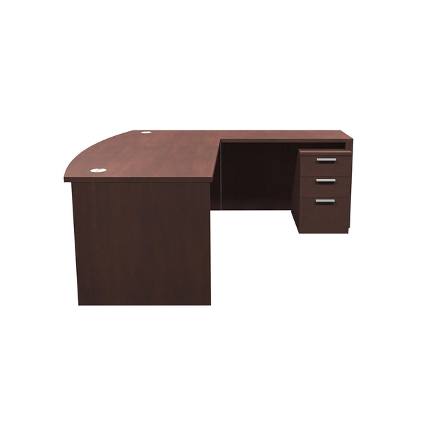 VERSA EXECUTIVE L-SHAPE BOW DESK COMBO