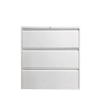 GLOBAL 3-DRAWER FIXED FRONT METAL LATERAL FILE