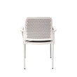 JUPITER MESH-BACK STACKING WHITE FRAME CHAIR