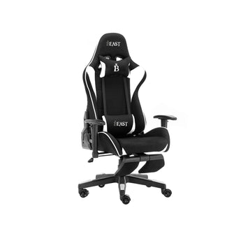 BIGFOOT RACING GAMING CHAIR WITH ERGONOMIC LUMBAR SUPPORT AND FOOTREST