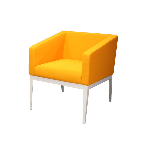 CUBE STEEL FRAME LOW PROFILE MODERN OFFICE ONE-SEATER SOFA
