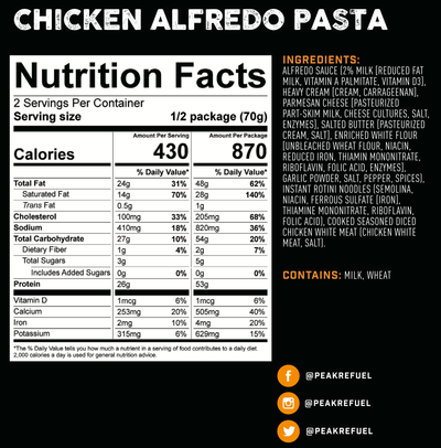 Peak Refuel - Chicken Alfredo