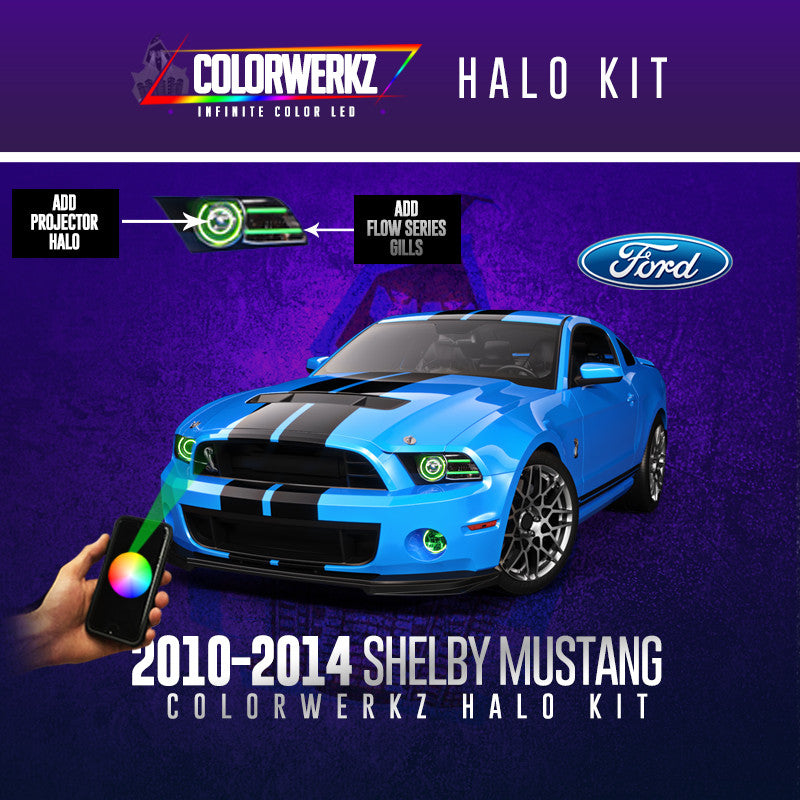 2010 2014 ford shelby mustang colorwerkz halo kit - Mustang 2014 Purple