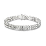 Two Row Diamond Bracelet 6.6 CTTW - Isaac Westman - 1