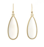Yellow Gold Moonstone Earrings - Isaac Westman - 1