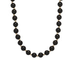 8mm Polished Black Onyx & 14K Gold Necklace