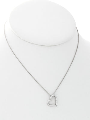 White Gold & Diamond Heart Pendant - Isaac Westman - 2