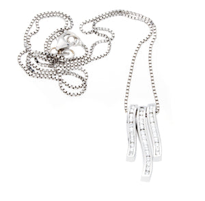 3 Piece 14K White Gold Diamond Pendant - Isaac Westman - 2